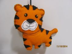 Plush Tiger Felt Ornament Christmas Ornament Nursery by AMailys