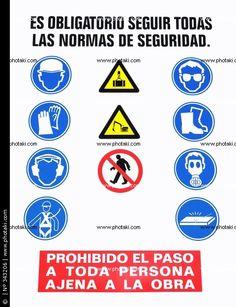 Letrero de normas de seguridad