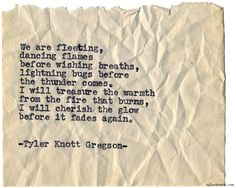 Typewriter Series #1062byTyler Knott Gregson *Chasers of the Light, is available throughAmazon,Barnes and Noble,IndieBound,Books-A-Million,Paper SourceorAnthropologie*