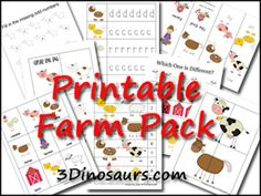 lots of farm printables from several different sites.  So cute..