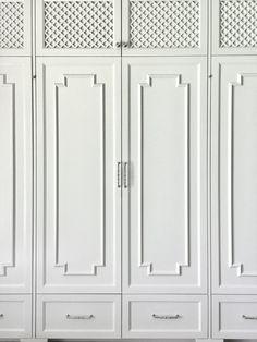 Wardrobe Cabinetry Details in Chinoiserie style - Carla Aston, Designer  #wardrobe #closet #builtin #cabinet #cabinetry