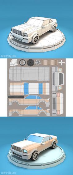 Low Poly Car, Car 3d Model, Store Supply, 3d Figures, 3d Mesh, Isometric Design, Arch Model, Low Poly 3d Models, Modelos 3d