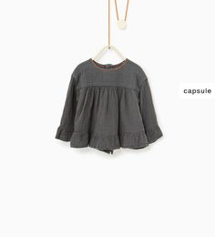 Loose fit embroidered blouse-NEW IN-BABY GIRL | 3 months-4 years-KIDS | ZARA Switzerland