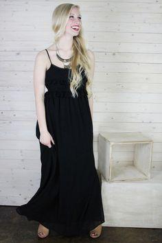 Babydoll Ruffle Maxi Dress