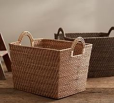 Storage Baskets, Wicker Storage Baskets & Woven Baskets   Pottery Barn