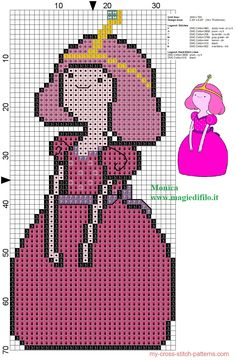 Princess Bubblegum (Adventure Time) - pattern by Monica