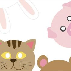 Free printable animal masks.  I think my girls will eat these right up!