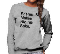 Unisex Sashimi Maki Nigiri Sake Sushi Sweatshirt