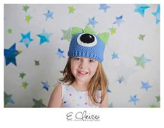 Oneeyed blue monster hat  MADE TO ORDER by Yarning2BMe on Etsy, $24.00