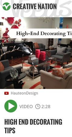 """Are you wanting a """"high - end"""" look in your home? In this video, I share my """"Five Tips on High - End Decorating"""". For more tips on design and decorating, please visit my website at Follow Tamela! WE.. 