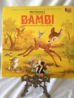 Vintage Record Disney's Bambi Album LP 3903 by FloridaFinders, $10.00