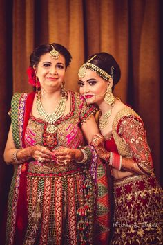 Emotional moment captured between the bride and her mother