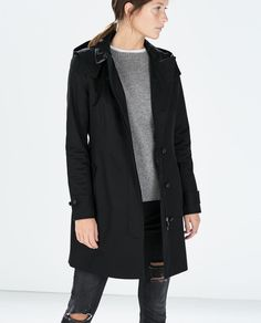 ZARA - NEW THIS WEEK - HOODED TRENCH COAT