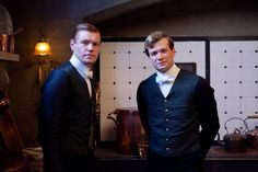Alfred and Jimmy in the one place footmen are not allowed: the kitchen. Mrs. Patmore was always chasing them like flies!