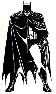 David Mazzucchelli's original sketch for the Batman:Year One
