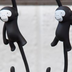Cool kitchen hooks in black, for hanging your utensils with style
