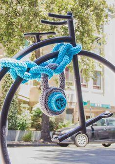 Bike Lock Yarn Bomb ❥ 4U // hf