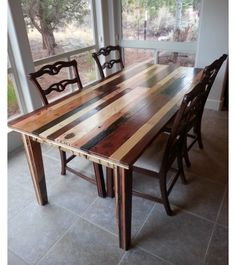 Table Pallet Furniture Recycled Wood And Chairs Rustic Style Customized  Smoked Brown Dinning Table For 6people | Driftwood Tables | Pinterest |  Rustic Style ...