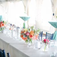 A colorful spring wedding in Charleston, South Carolina, with lots of coral peonies