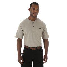 Wrangler Men's Riggs Workwear Short Sleeve Henley Shirt (Size: Medium Regular)