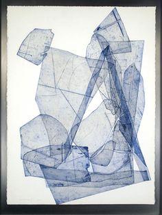 """Eben Goff (Seattle 1977) """"Batholith Etchings Monoprint""""  2010 (55x76)"""
