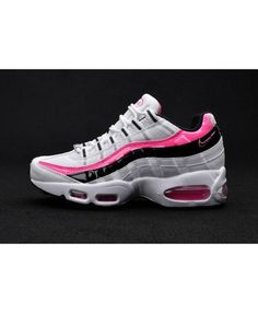 half off e0edc 091f2 Nike Air Max 95 Pink White Black Trainers Cheap Air Max 95, Air Max 95
