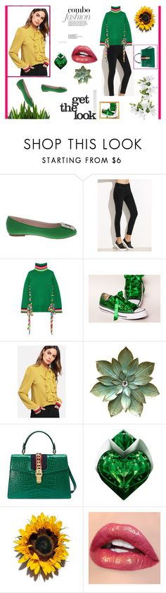 """""""//  My  Green Style //"""" by sabinasaby ❤ liked on Polyvore featuring De Blossom, Mira Mikati, Gucci and Thierry Mugler"""