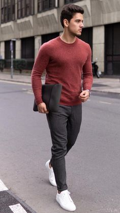winter outfits hipster 5 Warm Winter Outfits To Wear All Season Long Outfit Hombre Casual, Formal Men Outfit, Smart Casual Outfit, Outfits Casual, Casual Wear For Men, Winter Outfits Men, Stylish Mens Outfits, Mode Outfits, Winter Wear Men