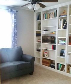 You have to see these! LOVE! Ikea book shelves attached togehter