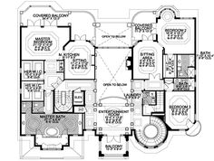 Italian Style House Plans - 8441 Square Foot Home , 3 Story, 6 ...
