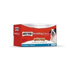 MilkBone Brushing Chews Daily Dental SmallMedium Dog Treats Value Pack ** Want additional info? Click on the image.
