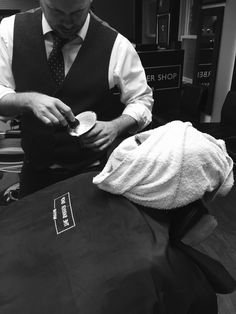Want to add a bit of luxury to your life? Treat yourself to a traditional hot towel shave. Shaving Razor, Wet Shaving, Best Beard Balm, Barber Shave, Men Spa, Its A Mans World, Dapper Men, Fade Haircut, Hair And Beard Styles