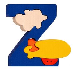 Montessori - Waldorf wooden puzzle letter Z(eppelin), made by hand of maple wood,no harmful colors and no lacquer