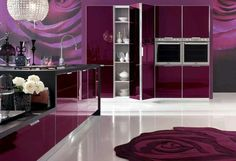 Pink Kitchen furniture with elegant design Beautiful Pink Kitchen Design with modern furniture. Pink Kitchen Design Ideas for girl are alway. Interior Design Trends, Interior Design Kitchen, Home Design, Interior Decorating, Design Ideas, Purple Kitchen, Kitchen Colors, Kitchen Decor, Kitchen Ideas
