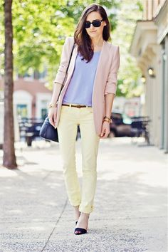 Structured Pastels | Summer Look.