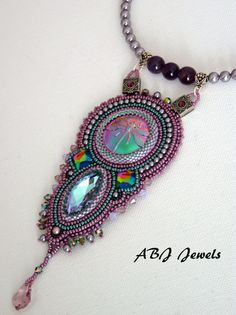 Embroidered dragonfly necklace by AllByJo on Etsy, €105.00