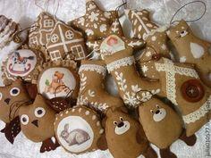 Ароматные кофейные елочные игрушки - коричневый,новогодний подарок,новогодний интерьер