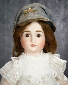 "28"" German bisque early child doll, model 103, Kestner, closed mouth, original body"
