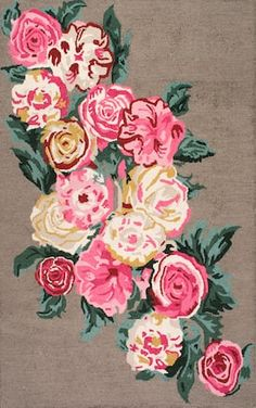 There is nothing like a beautiful floral rug like this Rugs USA Topall Hand Hooked Beautiful Rose Bouquet Rug! Beautiful Roses Bouquet, Rose Bouquet, Floral Area Rugs, Textiles, Area Rug Runners, Brown Rug, Rugs Usa, Pink Rug, Cotton Lights