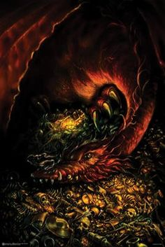 Smaug The Hobbit Poster Poster Print, Dragon poster would be cool