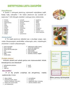 lista zakupów. Zucchini Banana, Diet Grocery Lists, Beetroot, Fruits And Veggies, Home Remedies, Food Videos, Detox, Health