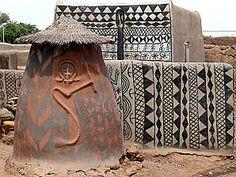 Burkina Faso - maisons de Tiebele