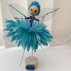 Flower Fairy Doll by UnderCaledonianSkys on Etsy