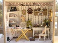 Dollhouse Miniature RoomBox - Tailor's Workshop, Scale 1:12