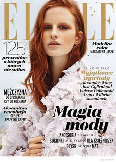 Elle Poland December 2014. Great cover, it even matches the colour of my yankee candle;)