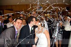 streamer wedding send off