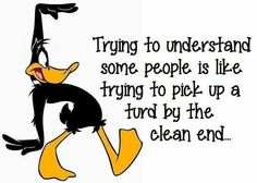 Literally there is no understanding stupid shit people do smh Funny As Hell, Haha Funny, Funny Jokes, Funny Stuff, Daffy Duck Quotes, Funny Duck, Badass Quotes, Sarcastic Quotes, Thing 1
