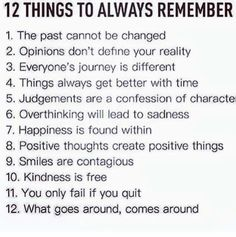 Christ first then 12 things to remember