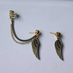 Wing Ear Cuff Earrings See them here >> https://www.etsy.com/listing/171384818/wing-ear-cuff-earrings?utm_source=Pinterest&utm_medium=PageTools&utm_campaign=Share
