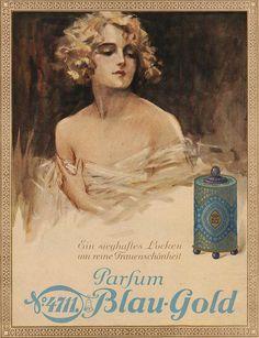 Blau Goldperfume ad, Jugend magazine, 1926